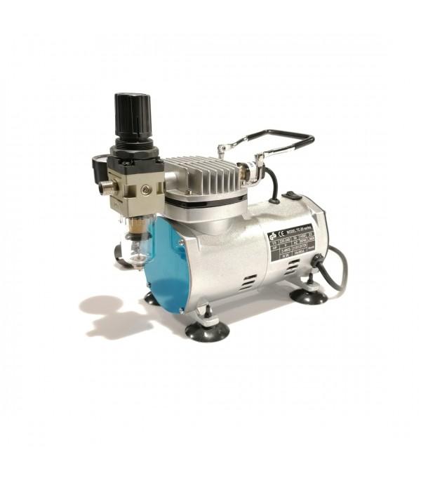 Миникомпрессор поршневой с фильтром для аэрографа 2.8bar, 23л/мин Partner AS18(TC-20)