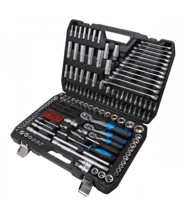 Набор инструментов 216пр. 1/4'', 3/8'', 1/2'' трещотка с улучшенным силовым механизмом (6гр.)(4-32мм) Forsage F-38841