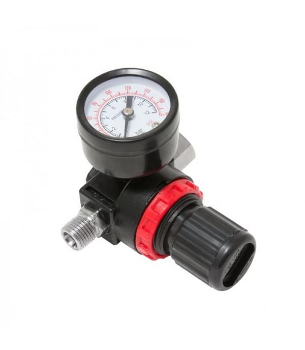 Регулятор давления воздуха с индикатором 1/4''(F)x1/4''(M) (0-12bar, нижнее расположение регулятора) Forsage F-2381