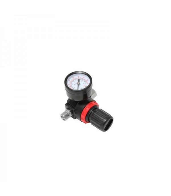 Регулятор давления воздуха с индикатором 1/4''(F)x1/4''(M) (0-12bar, нижнее расположение регулятора) Partner PA-2381