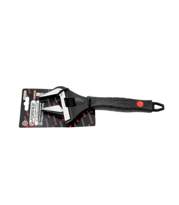 Ключ разводной с прорезиненной рукояткой 8''-200мм(захват 0-35мм, кованная сталь) Forsage F-649200C