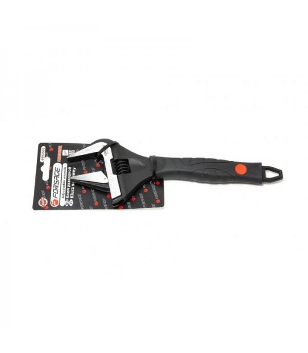 Ключ разводной с прорезиненной рукояткой 10''-250мм(захват 0-50мм, кованная сталь) Forsage F-649250C