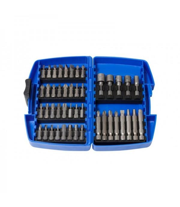 Набор бит и головок магнитных, 45пр., в пластиковом футляре Partner PA-22045