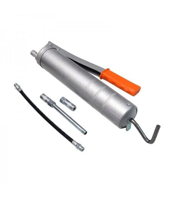 Шприц ручной для нагнетания густой смазки 400мл, в комплекте с жестким и гибким наконечниками Forsage F-KCG-451