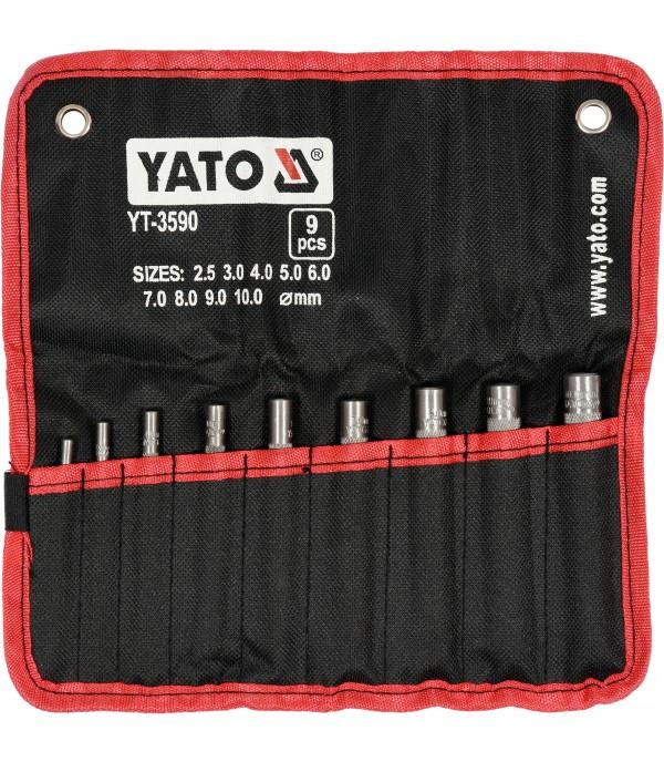 Пробойники для кожи 2,5-10мм (набор 9шт.) Yato YT-3590