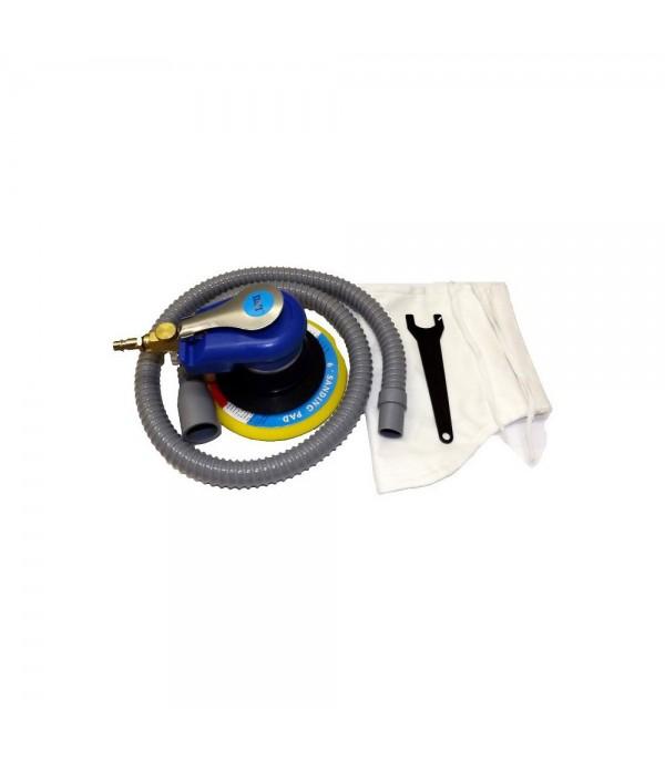 Пневмошлифовальная орбитальная машинка d150мм с вакуумным отсосом Luxi LX-4070