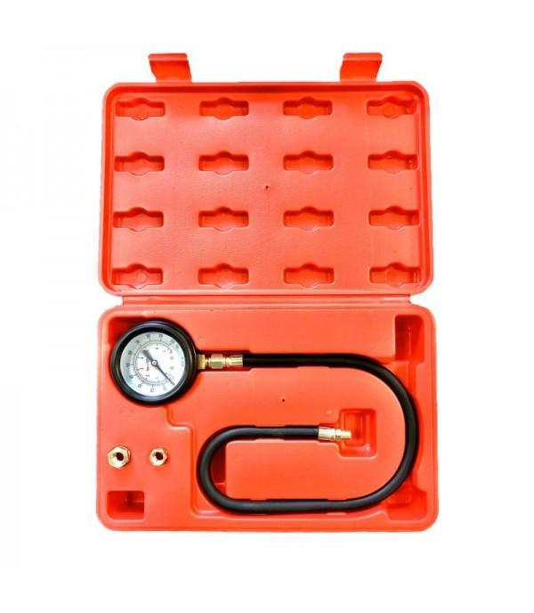 Тестер давления масла в наборе с резьбовыми адаптерами 3пр., (0-7bar), в кейсе Forsage F-912G03