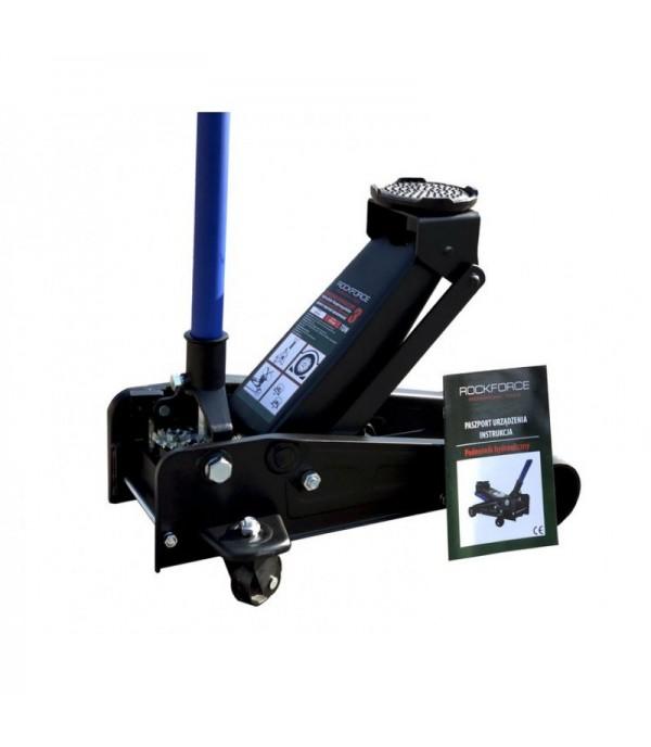 Домкрат подкатной гидравлический 3т (h min 145мм, h max 475мм) с резиновой накладкой Rock FORCE RF-T830025 NEW(RF830025)