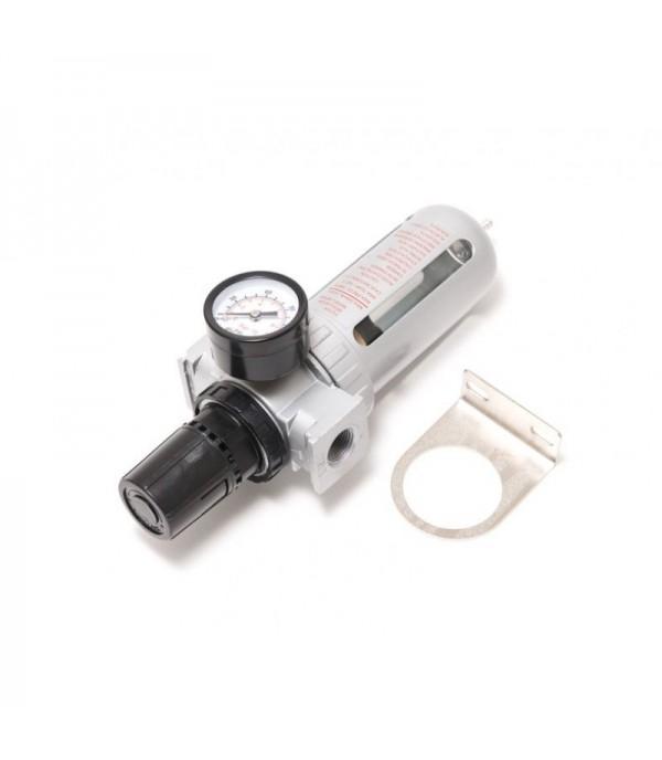 Фильтр влагоотделитель c индикатором давления для пневмосистемы 1/4''(10bar температура воздуха 5-60С.10Мк ) Forsage F-AFR802