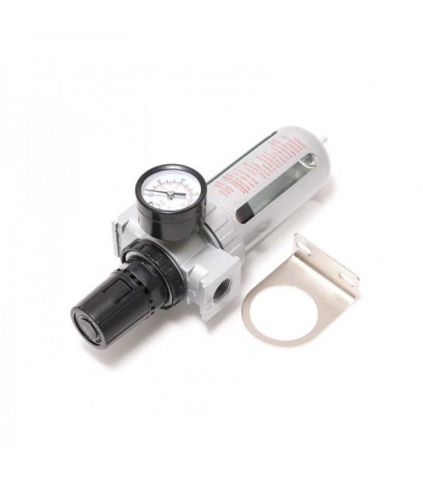 """Фильтр влагоотделитель c индикатором давления для пневмосистемы 1/4""""(10bar температура воздуха 5-60С.10Мк ) Rock FORCE RF-AFR802"""