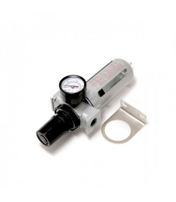Фильтр влагоотделитель c индикатором давления для пневмосистемы 1/2''(10bar температура воздуха 5-60С.10Мк ) Rock FORCE RF-AFR804