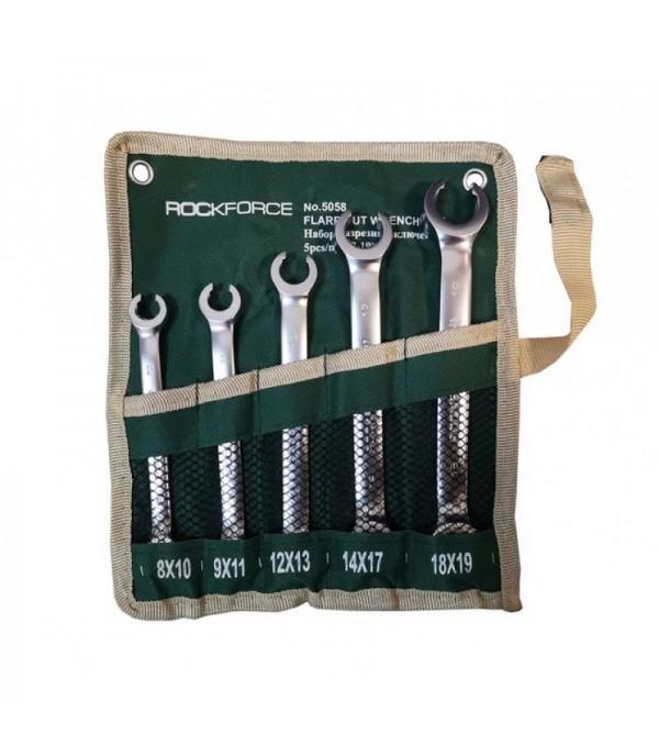 Набор ключей разрезных 5пр(8х10,9х11,12х13,14х17,18х19мм) на полотне Rock FORCE RF-5058