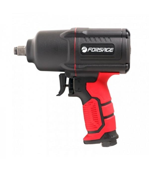 Пневмогайковерт ударный ''Twin Hammer''с реверсом и регулировкой усилия в облегченном корпусе 1/2''(1450Hм, 7000 об/мин,6.3bar,198 л/мин,вес 2кг) Forsage F-82549
