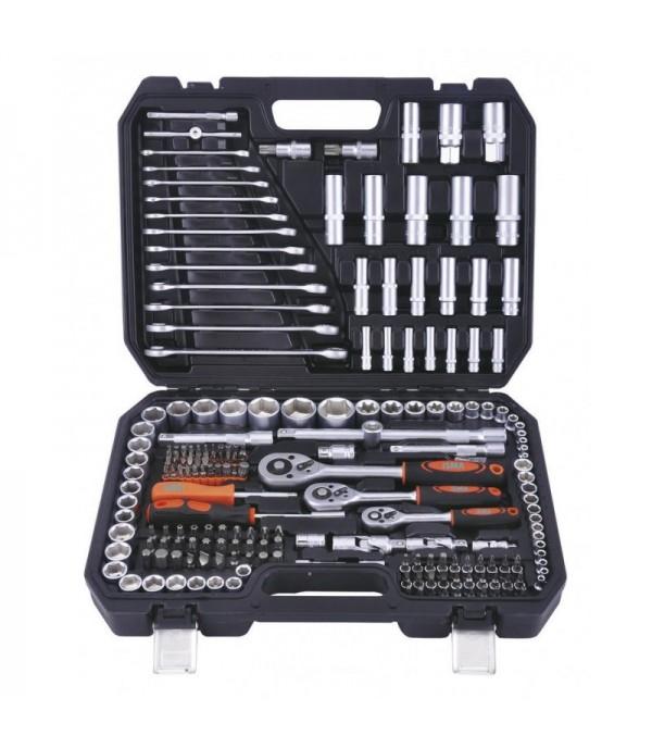 Набор инструментов 216пр.1/4''3/8''1/2''(6гр.)(4-32мм) ISMA 38841
