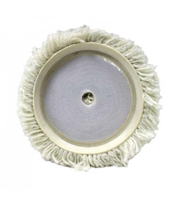 Губка для полировки из овечьей шерсти самоцепляющаяся на жесткой основе 150мм Forsage F-PSP150S
