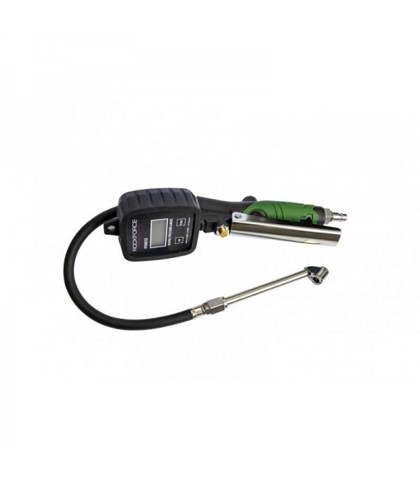 Пистолет для подкачки шин с цифровым манометром, шлангом и жестким удлинителем для грузовых а/м(0-14bar,psi,bar,kpa,kg/cm2, раб. t -18 +40гр) Rock FORCE RF-9T0401D
