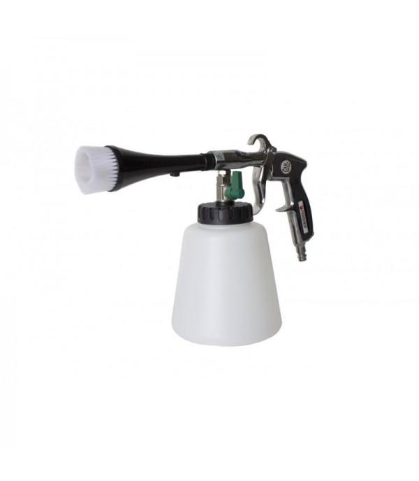 Пистолет пневматический ''Tornado''для химчистки салона а/м со сменной щеткой-насадкой(емкость 1л ,6 bar, расход воздуха 120 л/мин) Forsage F-203809