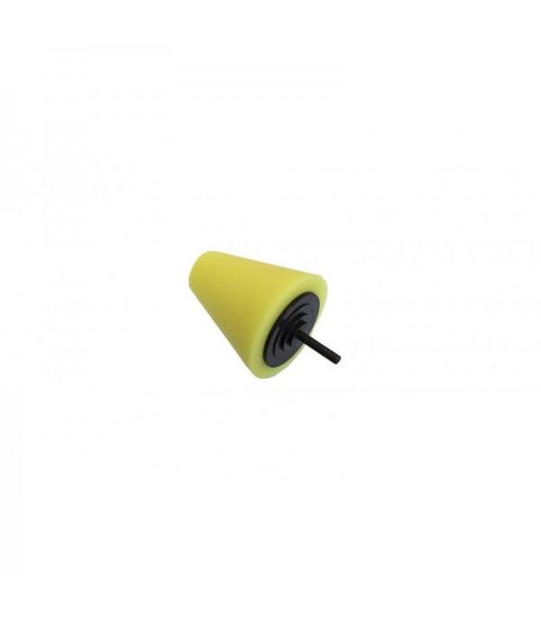 Губка полировальная для дрели конусная (80/30мм,желтая) Rock FORCE RF-PL80H