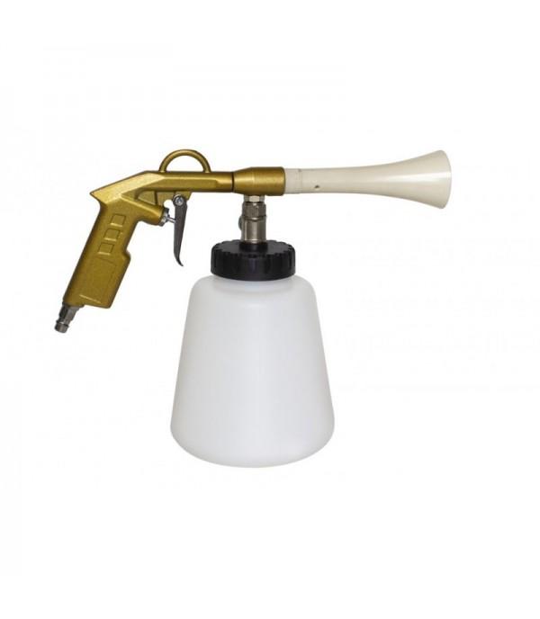 Пистолет пневматический ''Tornado''для химчистки салона а/м (емкость 1л ,6 bar, расход воздуха 120 л/мин) Rock FORCE RF-203826