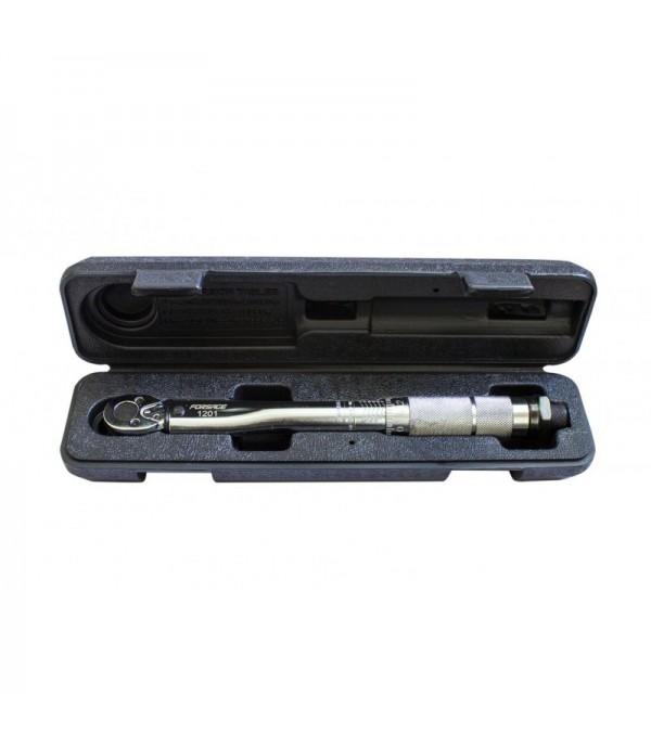 Ключ динамометрический щелчкового типа ''Profi''2-24Нм 1/4'',в пластиковом футляре (Taiwan) Forsage F-1201