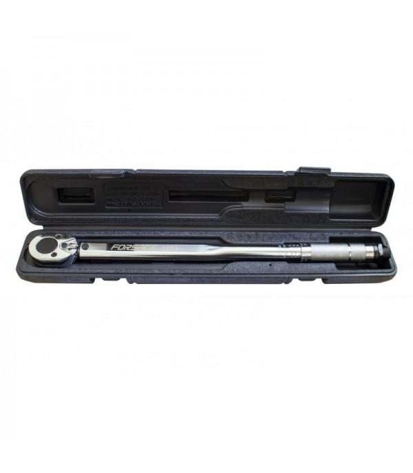 Ключ динамометрический щелчкового типа ''Profi''28-210Нм 1/2'',в пластиковом футляре (Taiwan) Forsage F-1203