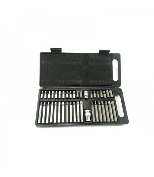 Набор бит с битодержателями ''Premium'' 40пр 10мм(75/30мм: T20-T55,H4-H12,M5-M12) в пластиковом кейсе Rock FORCE RF-4401C