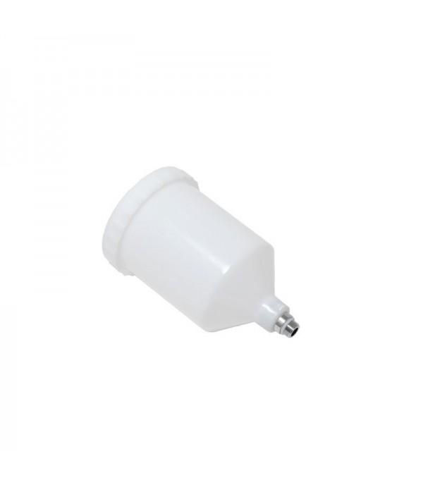 Пластиковый бачок 600мл к краскораспылителю с наружной резьбой Partner PA-990-P