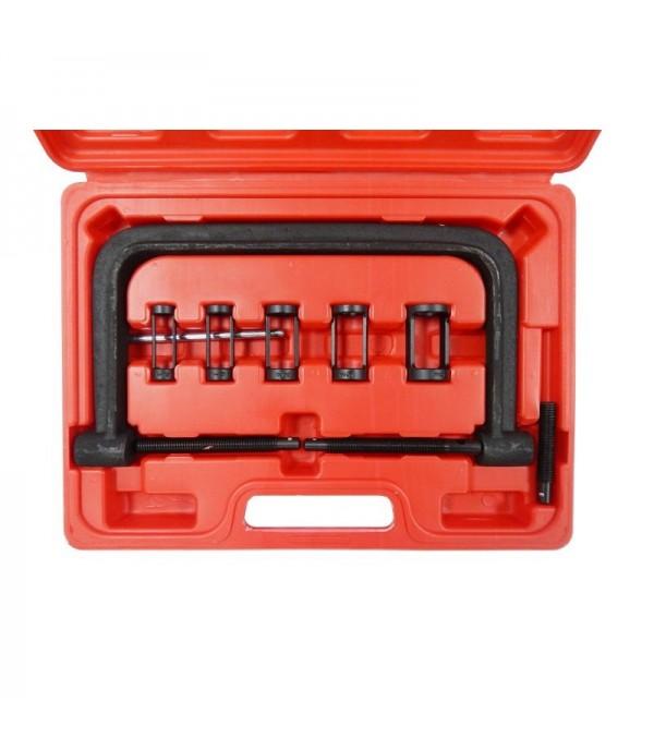 Рассухариватель клапанов струбцинного типа 10пр., (сменные толкатели: 16, 19, 24.5, 25.5, 30мм) в кейсе Forsage F-62110