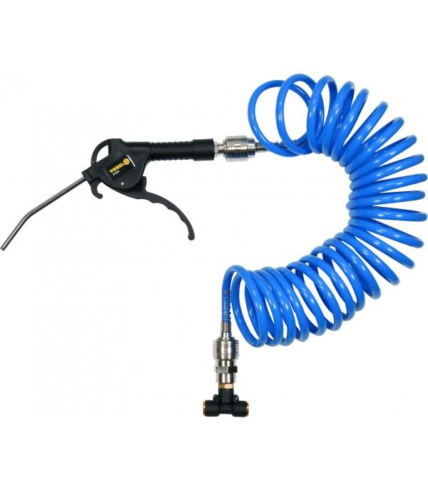 Пневмопистолет для продувки в наборе со шлангом и коннекторами VOREL 81634