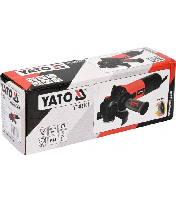 Угловая шлифовальная машина 125мм М14 (1100Вт, с регулировкой оборотов3000-12000об/мин) Yato YT-82101