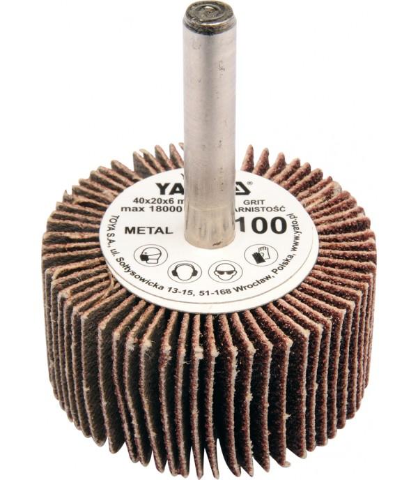 Круг лепестковый торцевой 60х30х6мм Р100 Yato YT-83364