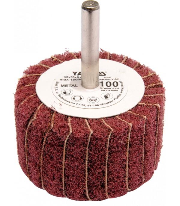 Круг лепестковый торцевой 50х30х6мм Р100 Yato YT-83391