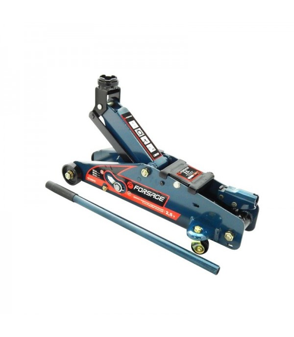 Домкрат подкатной 2,5т с фиксацией (h min 140мм, h max 387мм) в кейсе с резиновой накладкой Forsage F-TH22501C