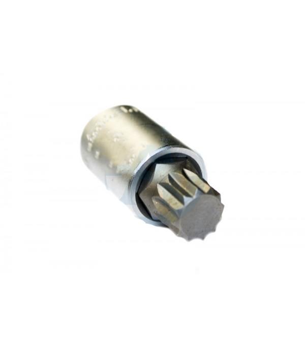 """Головка бита 12-лучевая M16 (55ммL) 1/2"""" Rock FORCE RF-34805516"""