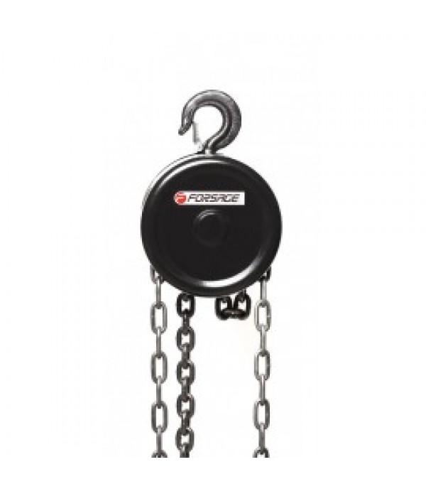 Лебедка механическая подвесная с фиксацией цепи натяжения, 0.5т (длина цепи - 2.5м) Forsage F-TR9005