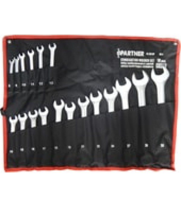 Набор ключей комбинированных 18пр(8-19, 21, 22, 24, 27, 30, 32мм) на полотне Partner PA-3018P