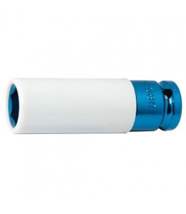 """Головка глубокая для литых дисков с защитным кожухом 17 мм 1/2"""" Forsage F-4458517C"""