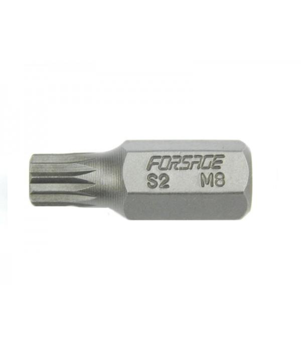 Бита 12-лучевая 30ммL M10 (под 10мм) Forsage 1783010