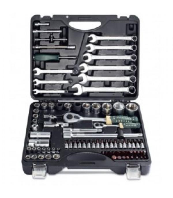 """Набор инструментов 82+6пр.1/4""""1/2""""(6гр.)+(головка-бита 1/4"""" T40; биты 5/16"""": М8,10-14;головки 1/2"""") Rock FORCE RF-4821-5 PREMIUM"""
