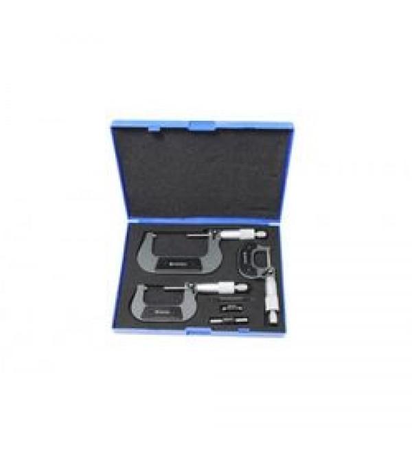 Набор микрометров, 3пр. (0-25, 25-50, 50-75мм, 0.01мм), в футляре Forsage F-5096P03