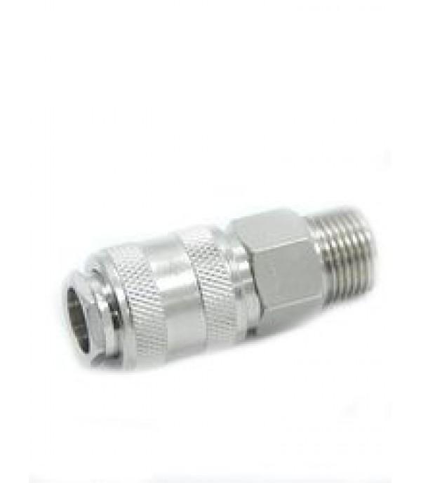 """Быстроразъем пневматический с клапаном с наружной резьбой 1/2"""" Partner SE1-4SM"""