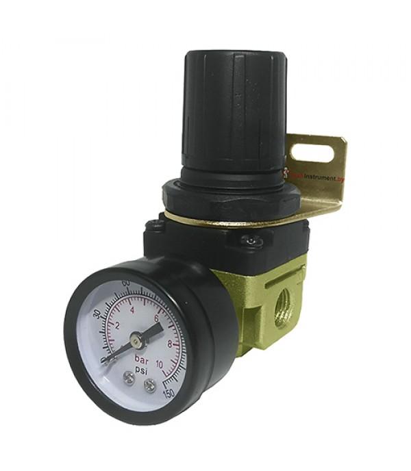 """Регулятор давления воздуха с индикатором 1/4""""(F)x1/4""""(F) (0-10bar) Rock FORCE RF-2000-02"""