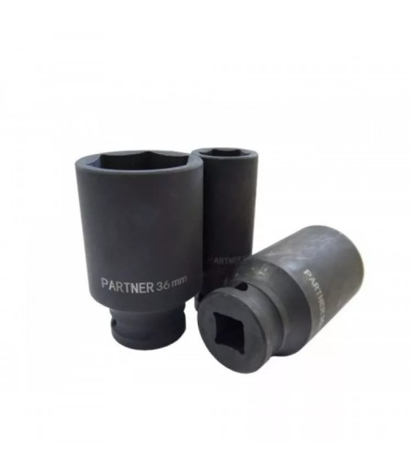 """Головка ударная глубокая 22 мм 3/4"""" (6 граней) Partner PA-46510022"""