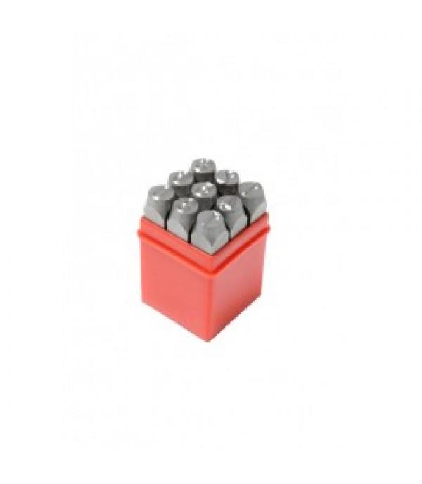 Набор штампов цифровых 3мм, 9пр., в пластиковом футляре Rock FORCE RF-00903D
