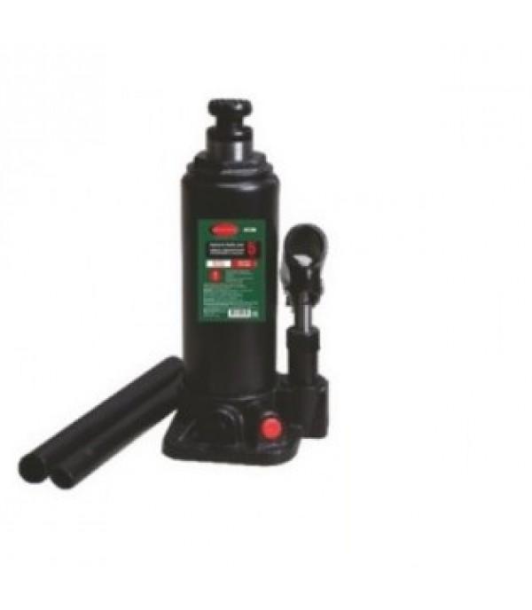 Домкрат бутылочный с клапаном + дополнительный ремкомплект 5т Rock FORCE RF-T90504