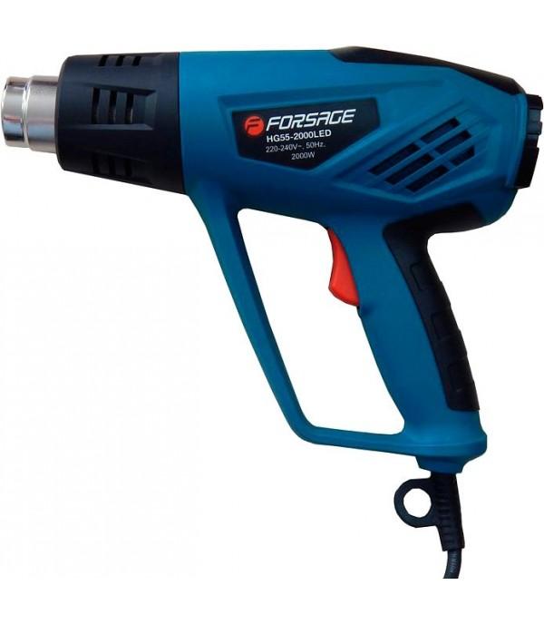 Фен промышленный электрический с регулировкой температуры Forsage electro HG60-2000LCD