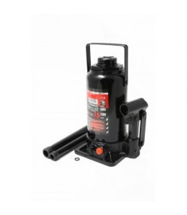 Домкрат бутылочный 50т с клапаном+доп. ремкомплект (h min-260мм, h max-415мм, 155мм) FORCEKRAFT FK-T95004