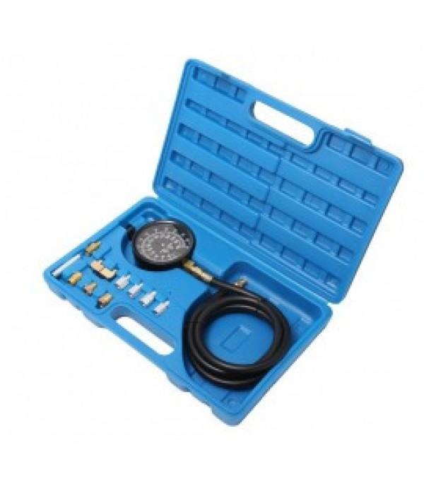 Тестер давления масла в наборе с резьбовыми адаптерами 12пр., (0-28bar), в кейсе Rock FORCE RF-912G02