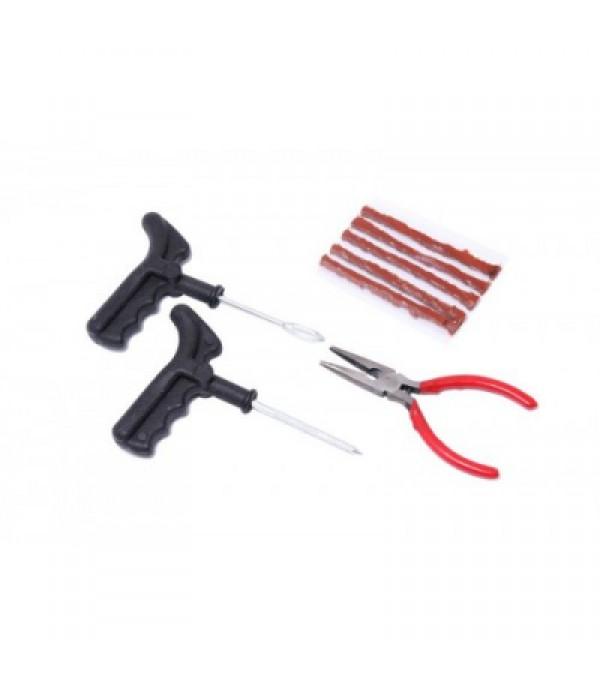 Набор инструментов для ремонта шин 8пр.(шило,протяжка,шнуры,утконосы), в блистере KINGTUL KT-904T8A
