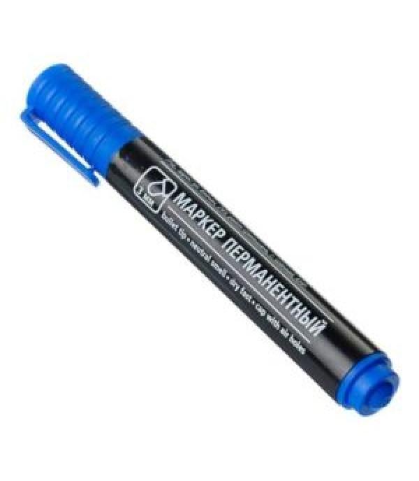 Маркер перманентный синий пулевидный наконечник 3мм APRO 526-502